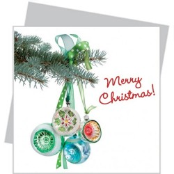 Flat Flowers small - Green Christmas Ornaments