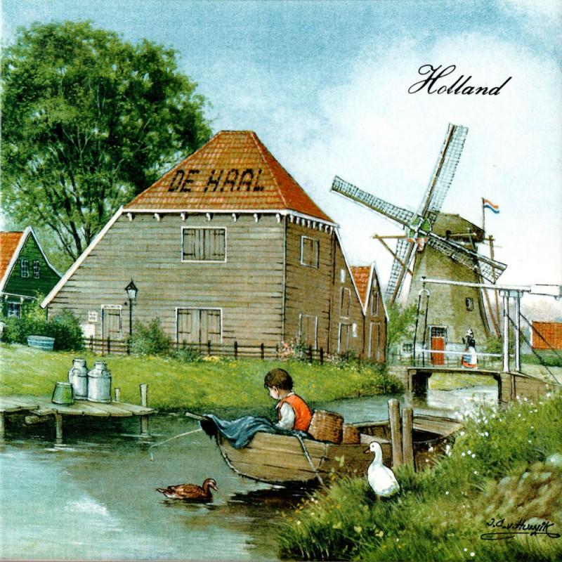Barn De Haal in Zaanse Schans - Tile 15x15cm - Color