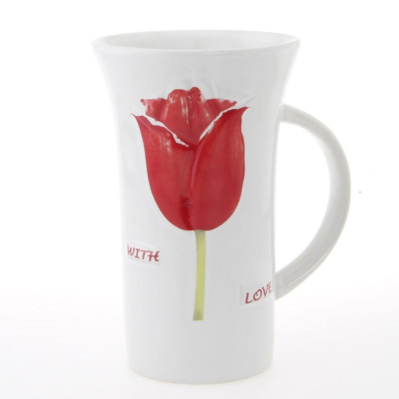 Holland XL Mug with Red Tulips 16cm
