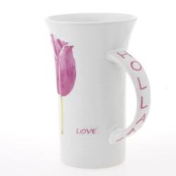 Holland XL Mug with Pink Tulips 16cm