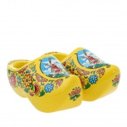 Yellow Wooden Shoes - 14 cm