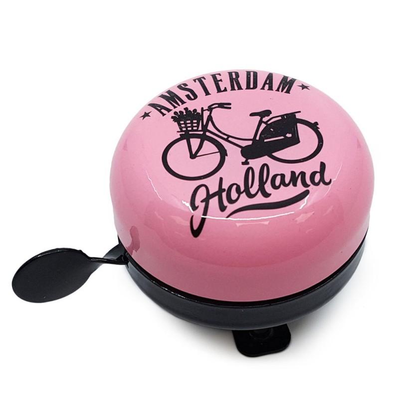 Roze Fietsbel Amsterdam 6cm