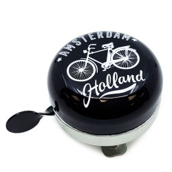 Black Bicycle Bell Amsterdam 6cm