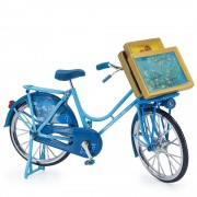 Blue Bicycle with Van Gogh...