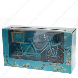 Blue Bicycle with Van Gogh Paintings - Miniature 23 x 13 cm