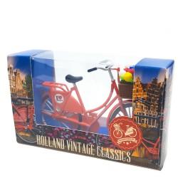 Mini Bicycle Orange - Miniature 13,5 x 8,5 cm