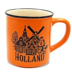Orange Camp Mug Holland 10cm