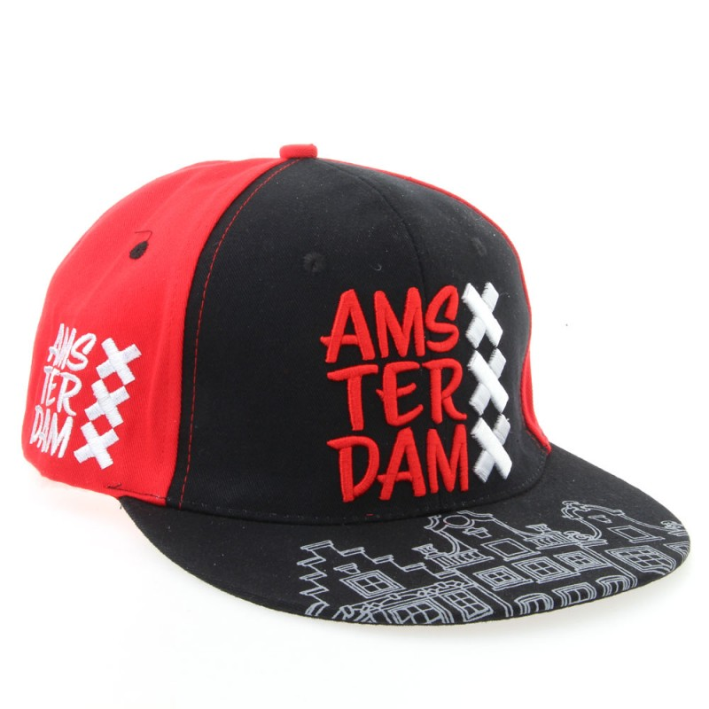 Red-Black Amsterdam XXX Cap