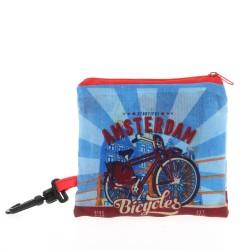 Light Blue Nylon Foldable Amsterdam Bag - 40cm