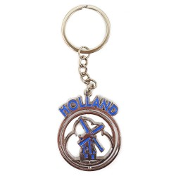 Blue Holland Windmill - Keychain