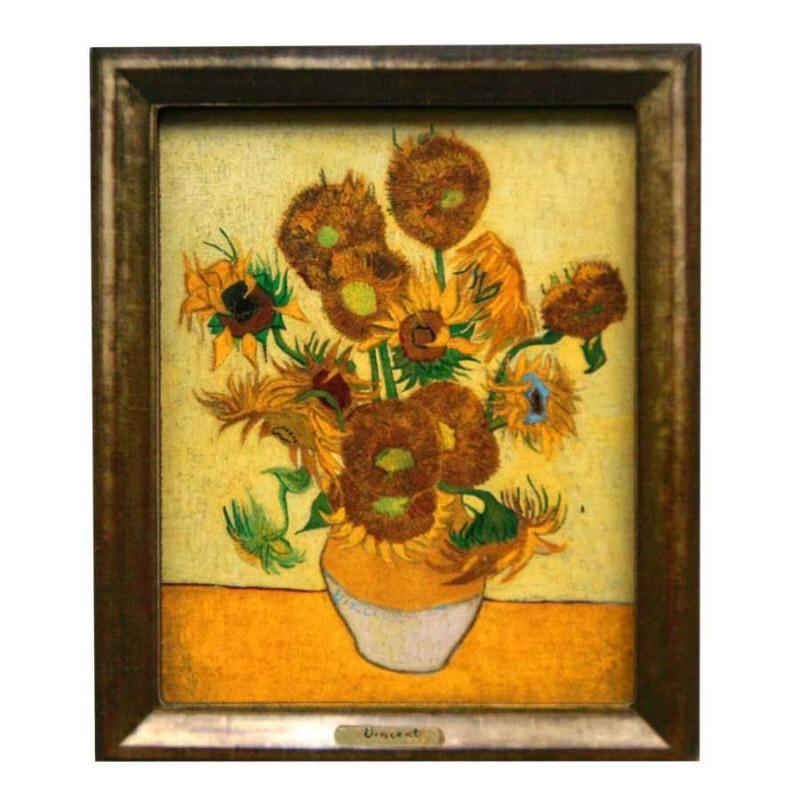 Bekende Schilders Zonnebloemen - Van Gogh - 3D MDF