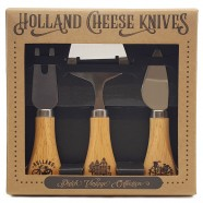 Wooden Cheese Slicer and Knives - set of 3