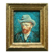 Famous Painters Self Portrait - Gogh - 3D MDF