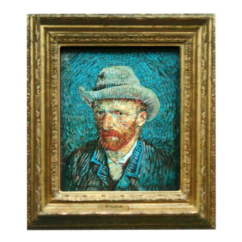Famous Painters Self Portrait - Gogh - 3D MDF