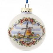 Kerstbal 7 cm - Windmolen -...