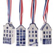 Set van 4 Grachtenhuisjes -...
