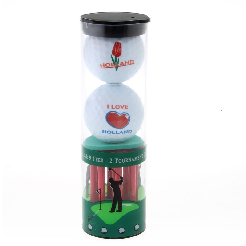 Golf Ball Holland - set of 2 including tees