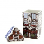 Chocolatier Canal house Storage Jar - Polychrome