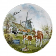 Wall Plate Windmill Cows-...