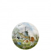 Wall Plate Windmill Cow -...