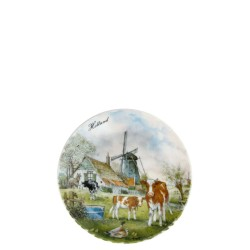 Wall Plate Windmill Cow - Small 13cm