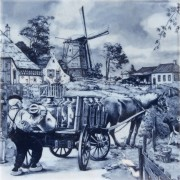 Milkman with Horse Cart -...