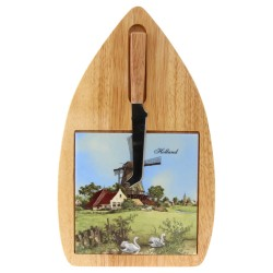 Cheese board and Knife - Windmill Swan Tile