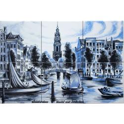 Zuiderkerk at the Amstel - set of 6 tiles