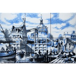 Haarlemmersluis in Amsterdam - set of 6 tiles