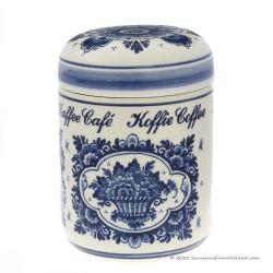 Coffee Storage Pot Jar 14cm - Delft Blue