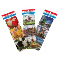 Coasters Amsterdam Holland - Cork Coasters - set of 6 assorti