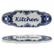 Kitchen Door Sign - Delft Blue