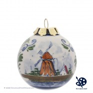 X-mas Ball Windmill 5cm - Handpainted - Polychrome