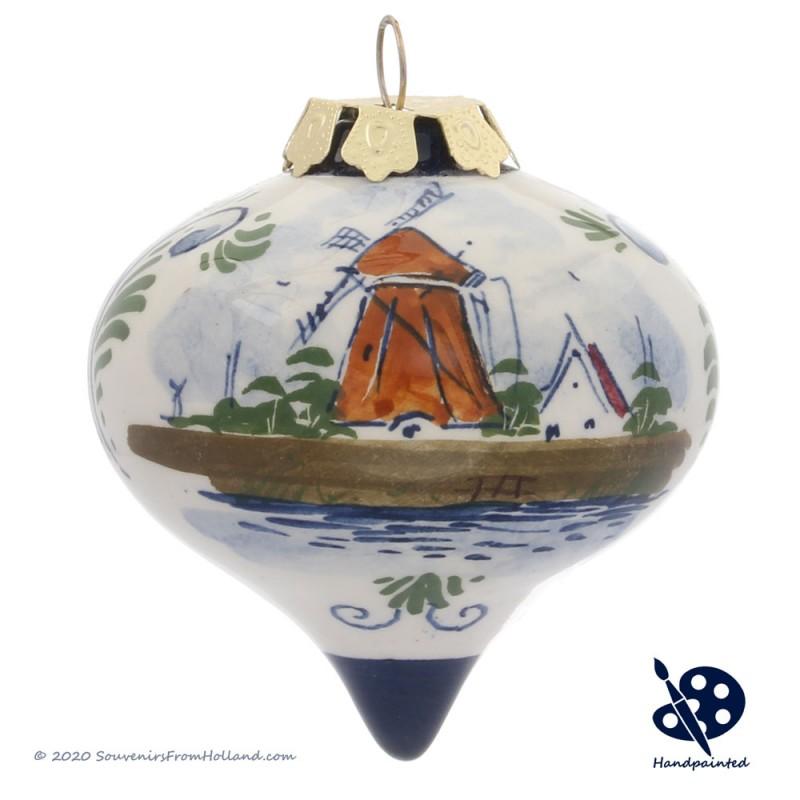 X-mas Drip Ball Windmill 6,5cm - Handpainted - Polychrome