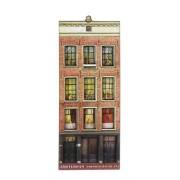 Grachtenhuizen 2D MDF Anne Frank -  Magneet - Grachtenhuis