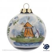 Kerstbal Molen 6,5cm -...