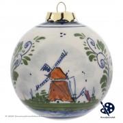 Kerstbal Molen 8cm -...