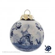 Kerstbal Windmolen 5cm -...