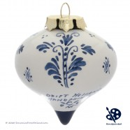 Kerstdruppel Molen 6,5cm - Handgeschilderd Delfts Blauw