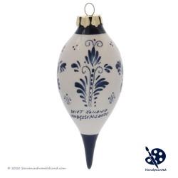 Kerstpegel Molen 11,5cm - Handgeschilderd Delfts Blauw