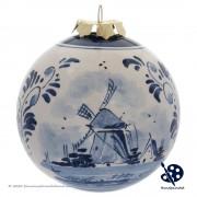 Kerstbal Windmolen 8cm -...