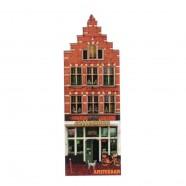 Grachtenhuizen 2D MDF Coffeeshop -  Magneet - Grachtenhuis