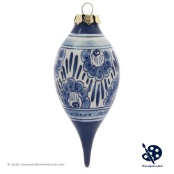 X-mas Dripball Flower 11,5cm - Handpainted Delft Blue