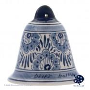X-mas Bell Flower 6,5cm - Handpainted Delft Blue
