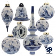 X-mas Ball Windmill 5cm - Handpainted Delft Blue
