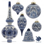 Christmas Tree Topper Flowers 20cm - Handpainted Delft Blue