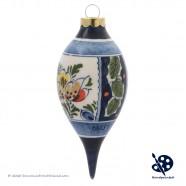 Kerstpegel 11,5cm - Bloemen Hulst - Handgeschilderd