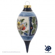 X-mas Dripball 11,5cm - Flowers Holly - Handpainted Delftware
