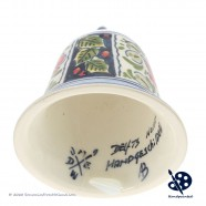 X-mas Bell 6,5cm - Flowers Holly - Handpainted Delftware