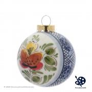 Kerstbal 5cm - Bloemen Ruit...